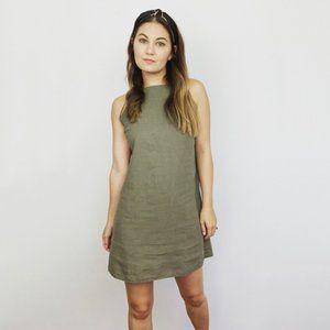 ASOS Linen Blend Open Back Dress